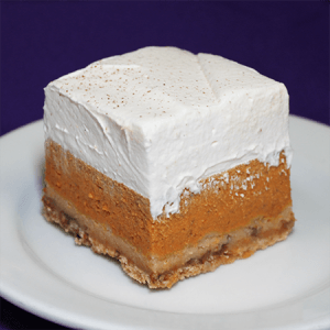 Pumpkin Crunch Cake Square