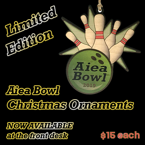 Aiea Bowl Christmas Ornaments -- available now at the front desk ($15/each)
